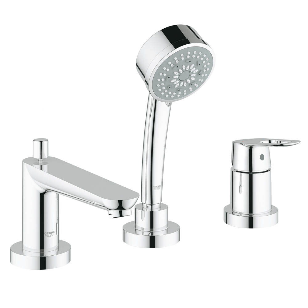Grohe BauLoop Deck Mount Roman Tub Filler Shower Faucet with Loop ...