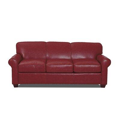 Dark Red Leather Sofa Wayfair