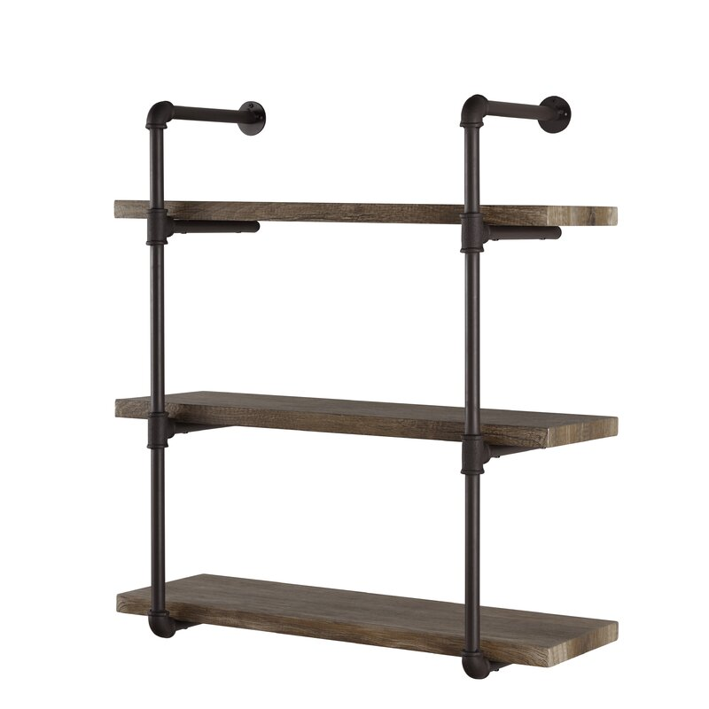 Simonne 3 Tier Industrial Pipe Wall Shelf Amp Reviews Joss