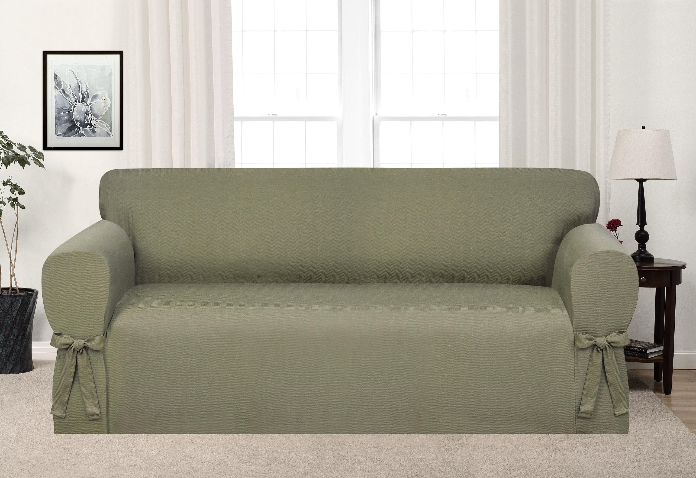Matelasse Damask 1 Piece Sofa Slipcover Small House Interior Design