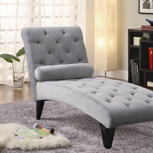 Whitney Tufted ChaiseChaise Lounges   Joss   Main. Living Room Chaise Lounge Chairs. Home Design Ideas