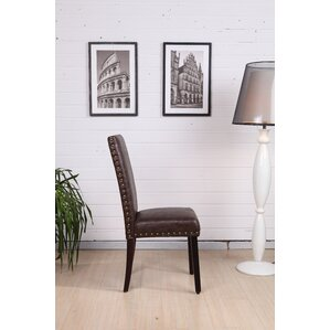 Classic Genuine Leather Upholstered Dining Chair (Set of 2) by NOYA USA
