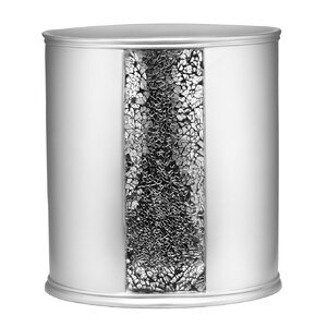 Rivet Brushed Nickel Waste Basket