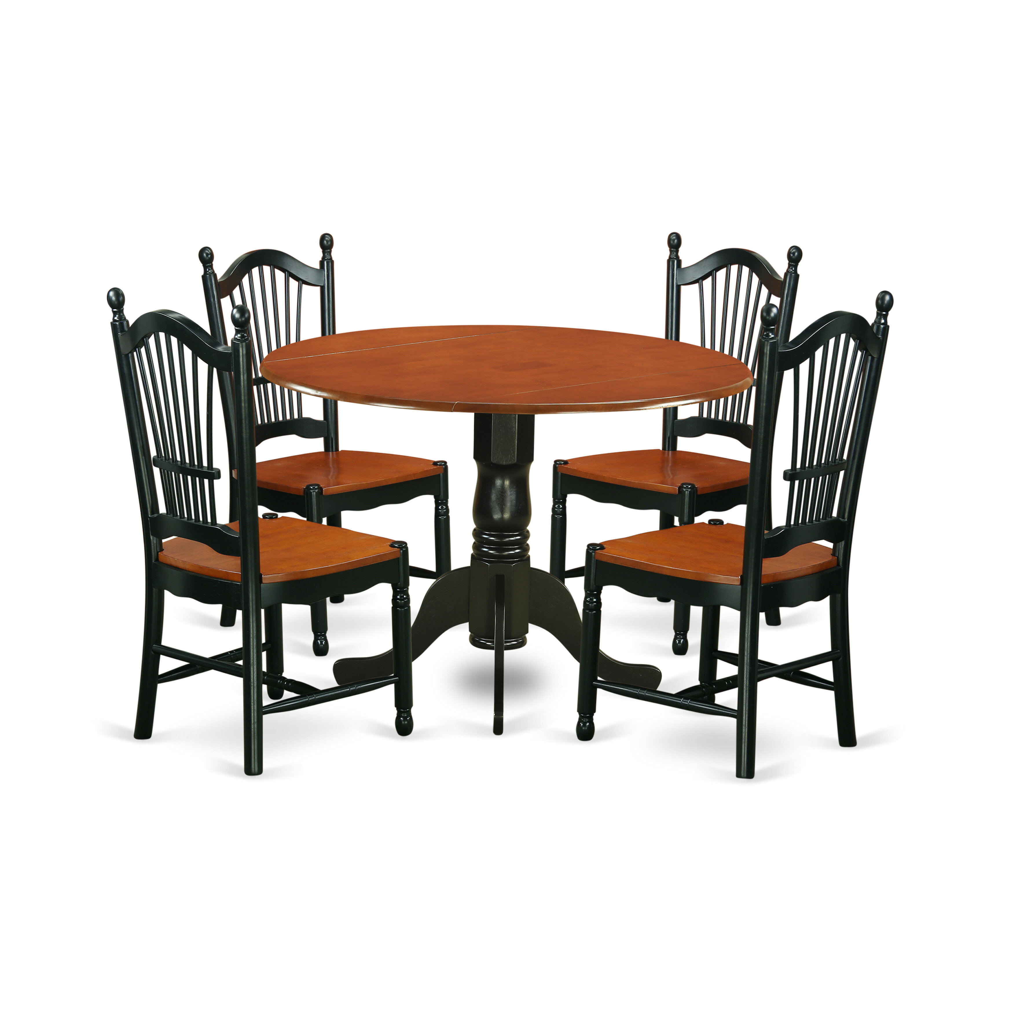 Charlton Home Gloucester 5 Piece Drop Leaf Dining Set Reviews