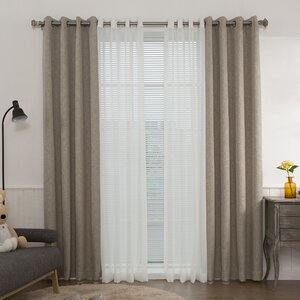 Mix and Match Muji Solid Blackout Thermal Grommet Single Curtain Panel