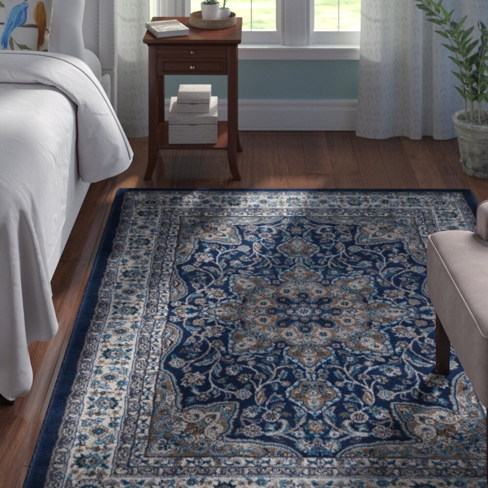 Charlton Home Arend Blue Ivory Area Rug Reviews Wayfair