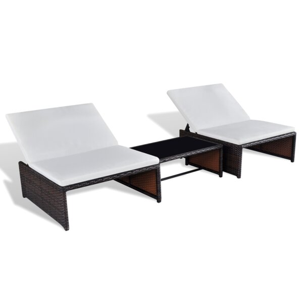 dcor design 3 tlg lounge set mit kissen und tisch. Black Bedroom Furniture Sets. Home Design Ideas