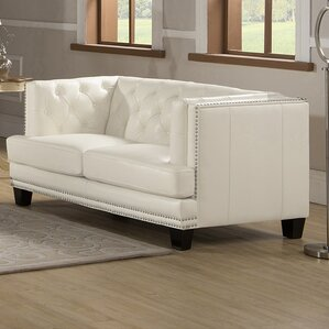 Newport Chesterfield Loveseat by Amax