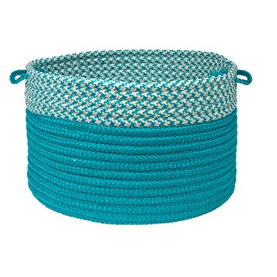 Brayden Studio Ariadne Dipped Basket Size: 10 H x 14 W x 14 D, Color: Turquoise