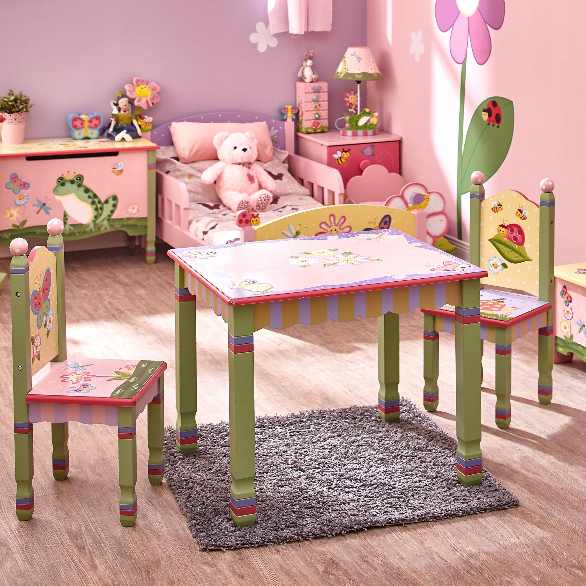 rectangle kids table chair sets you ll love wayfair