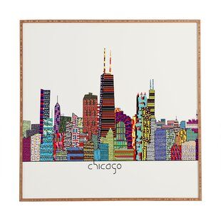 U0027Chicago Cityu0027 Framed Graphic Art