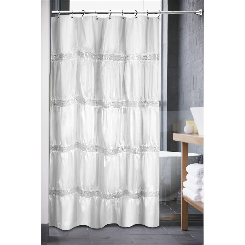 Sweet Home Collection Luxurious Rhinestone Shower Curtain ...