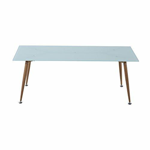 retro coffee table. Chea Mid-Century Modern Tempered Glass Retro Coffee Table
