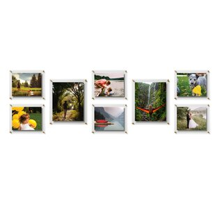 8 Piece Coridotto Double Panel Float Picture Frame Set