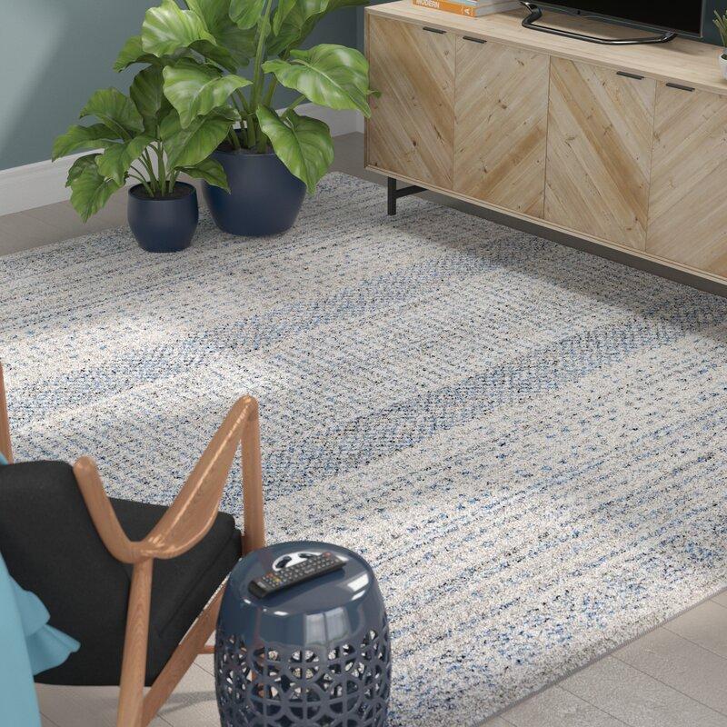 Mistana Ponce Medium Gray Bright Blue Area Rug Amp Reviews