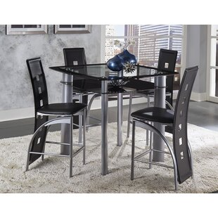 Byxbee 5 Piece Pub Table Set