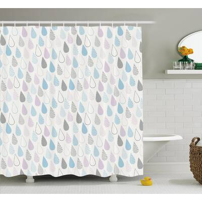 Raindrops Decor Shower Curtain