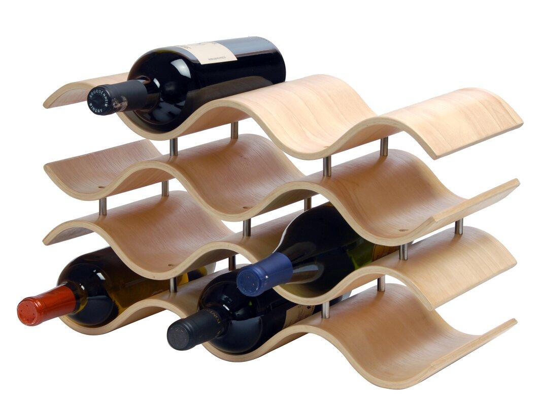 wade logan ernesto  bottle tabletop wine rack  reviews  wayfair - defaultname