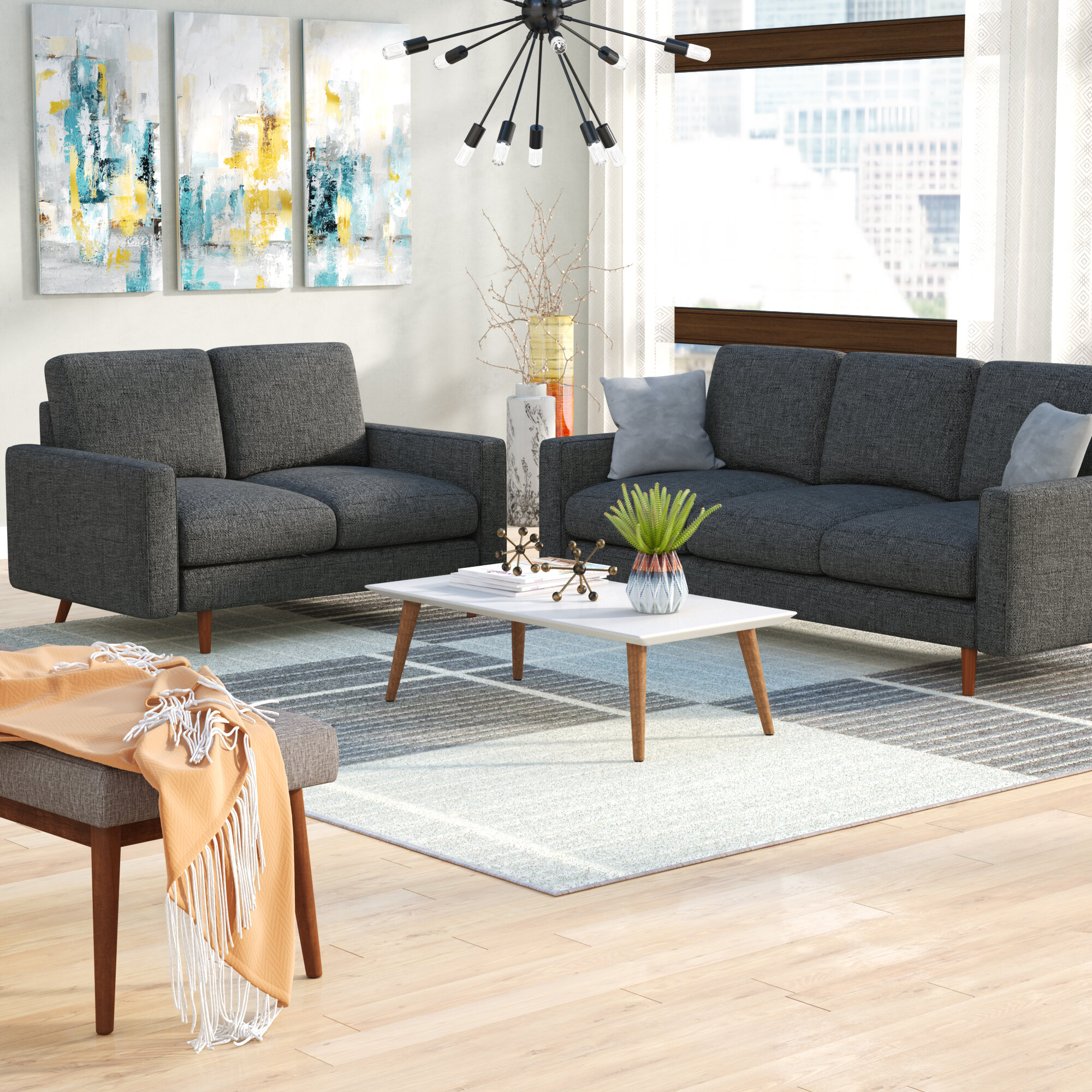 Wrought Studio Macsen 2 Piece Living Room Set & Reviews ...
