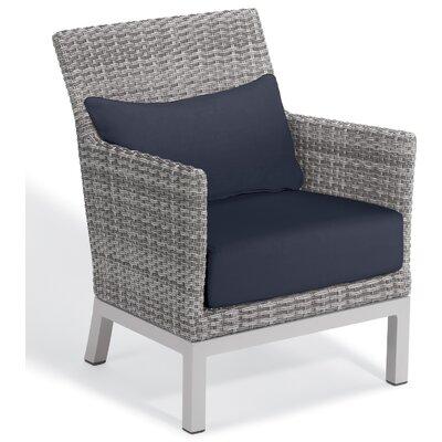 Brayden Studio Saleem Club Patio Chair with Cushions Color: Midnight Blue