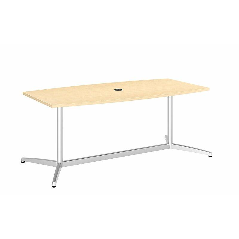 Bush Business Furniture Eden Series Boat Shaped Conference - Boat shaped conference table dimensions