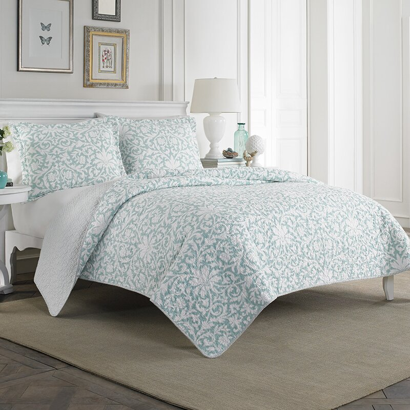 Laura Ashley Home Mia 100% Cotton Quilt Set by Laura Ashley Home ... : quilted cotton coverlet - Adamdwight.com