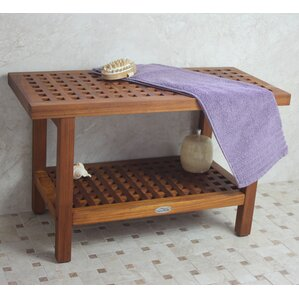 grate teak shower bench