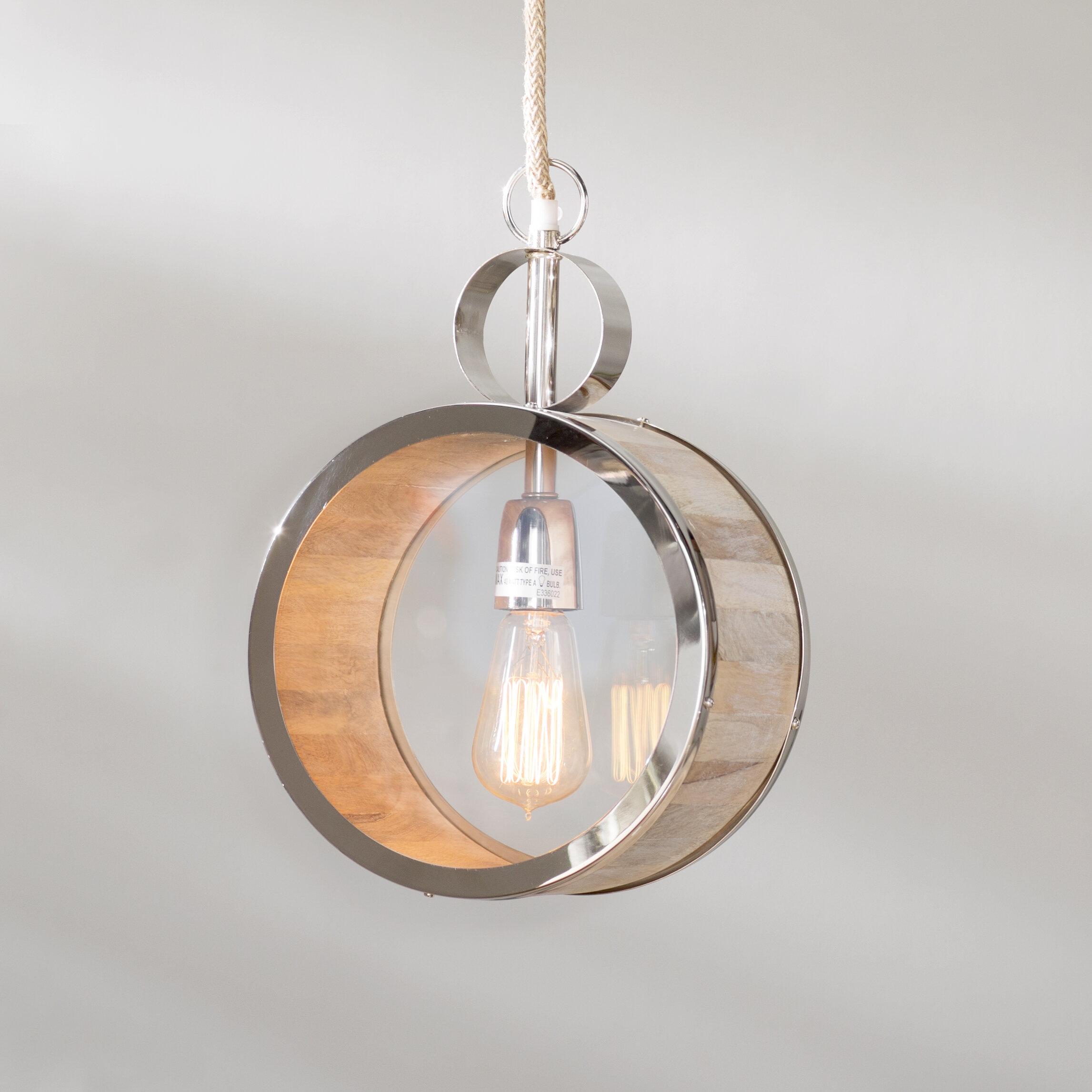 Ivy bronx merri 1 light globe pendant wayfair