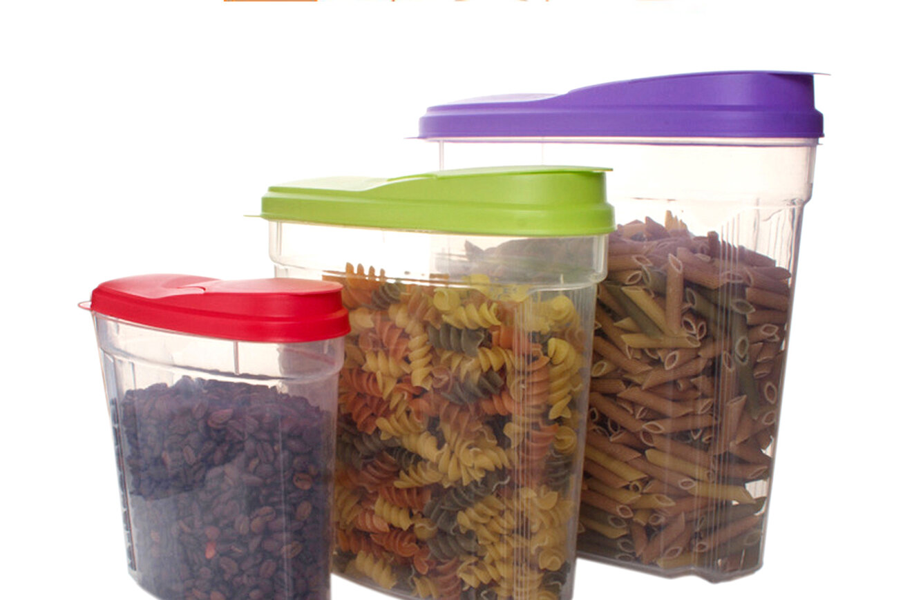 Rebrilliant Blough 3 Piece Cereal Dispenser Food Storage Container