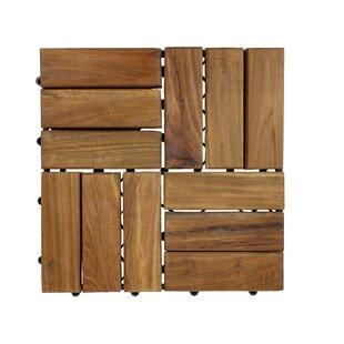 Teak Interlocking Deck Floor Tile (Set Of 10)