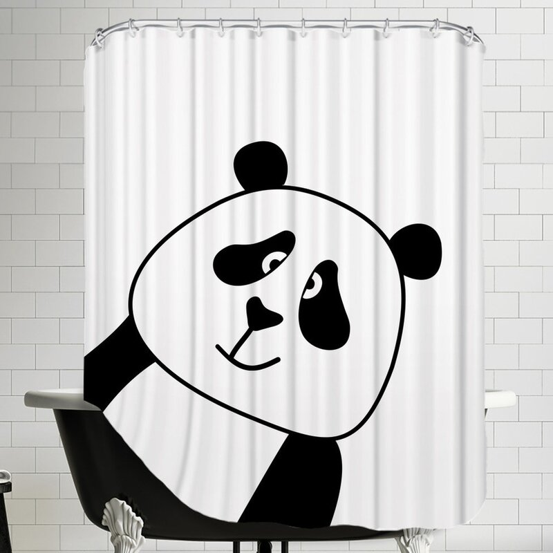 Awesome Panda Shower Curtain