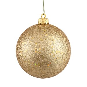Sequin Ball Drilled Cap Ornament