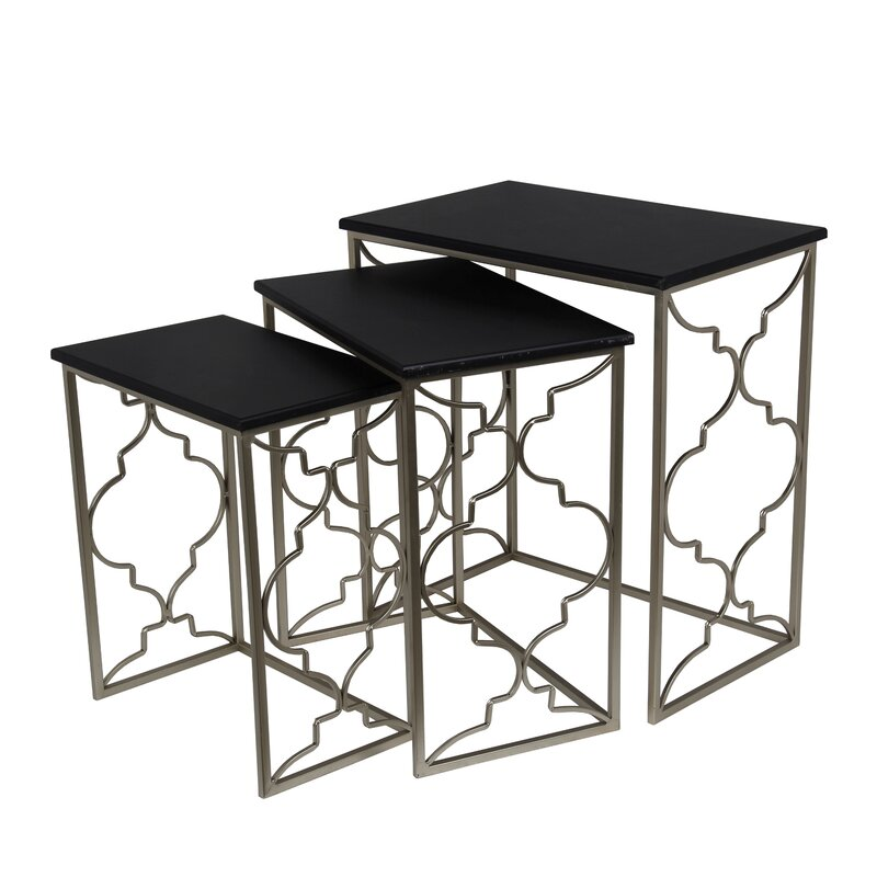 Great Chris 3 Piece Nesting Table Set