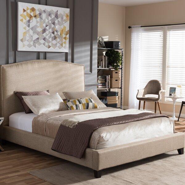 wholesale interiors baxton studio upholstered platform bed u0026 reviews wayfair - Baxton Studio Bed