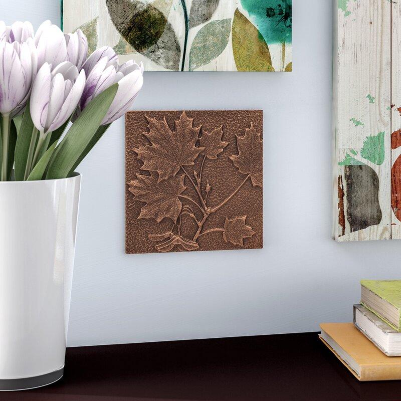 Andover Mills Aluminum Maple Leaf Wall Decor Reviews Wayfair