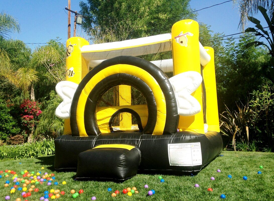 JumpOrange DuraLite Busy Bee Bounce House & Reviews | Wayfair