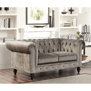 Kashvi Chesterfield Loveseat by World Menagerie