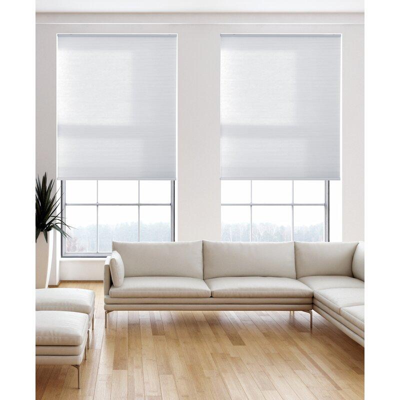 Admirable Light Filtering Pure White Cellular Shade Interior Design Ideas Gentotryabchikinfo