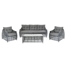 Charming Outdoor Furniture Complete 4 Piece Deep Seating Group