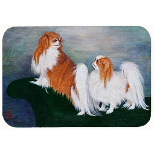 Japanese Chin Standing on My Tail Kitchen/Bath Mat