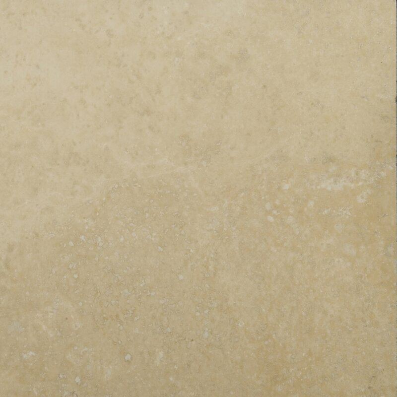 Emser Tile Travertine 6 X 6 Unfilled And Tumbled Tile In Ivory