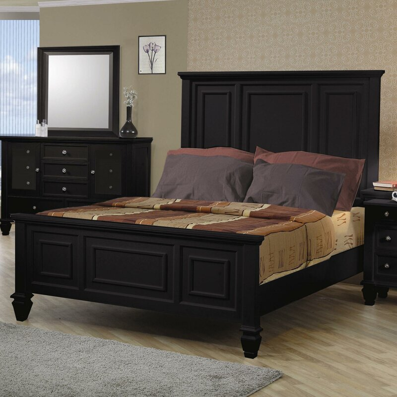 Ellis High Headboard Panel Bed