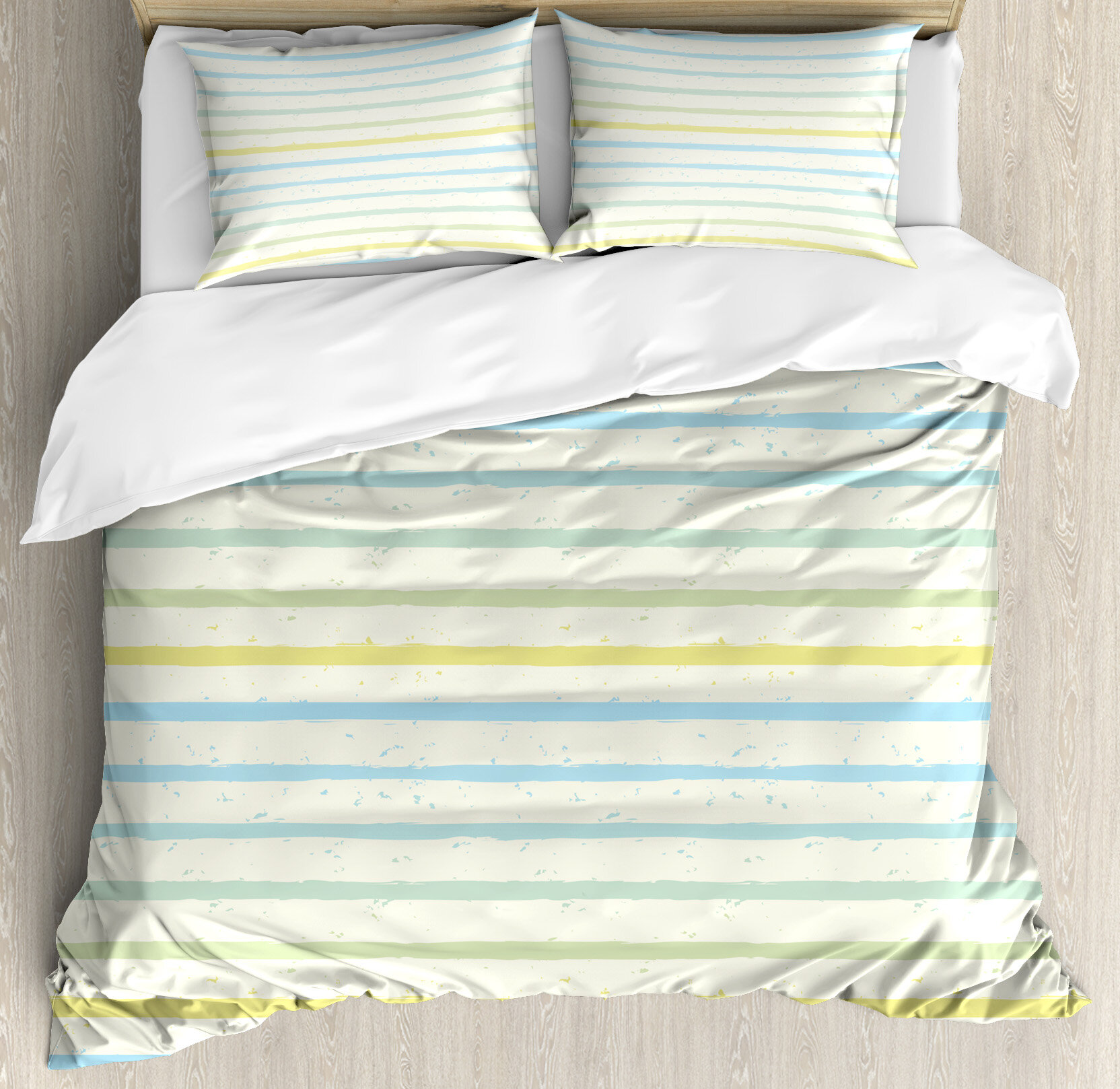 Ambesonne Striped Watercolor Paint Brush Pattern In Pastel Tone With Grunge Effects Nouveau Art Duvet Cover Set Wayfair