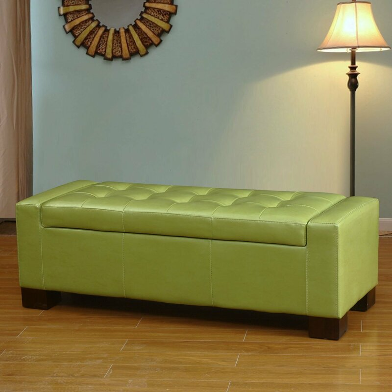 default_name - AdecoTrading Large Accents Rectangular Tufted Storage Ottoman