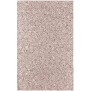 Nichalaus Hand-Woven Wool/Cotton Beige Area Rug