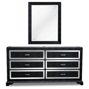 6 Drawer Dresser with Mirror by BestMasterFurniture