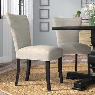 Lorie Upholstered Contemporary Parsons Chair (Set of 2)
