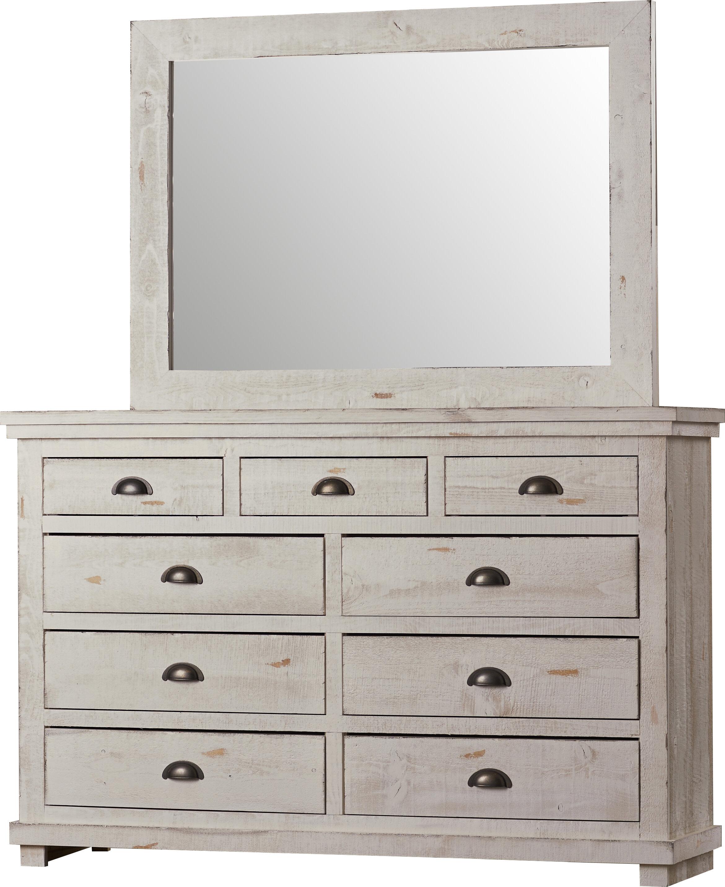 Lark Manor Castagnier 9 Drawer Dresser With Mirror Reviews Wayfair