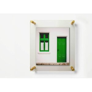12x15 double panel floating frame - Double Glass Frame