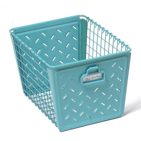 Turquoise Metal Basket | Wayfair